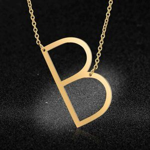 Jewelry - Stainless Steel Fashion Monogram B Necklace
